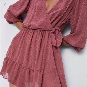 Zara Swiss dot jumpsuit dress